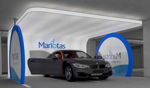Lavaderos de autos con estructura autoportante Manotas